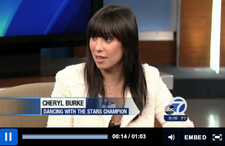 Dancing with the Stars, Cheryl Burke, Ballroom Dance, Salsa